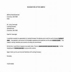 Resignation Letter Layout 39 Simple Resignation Letter Templates Pdf Doc Free