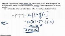 Future Value Of Introduction To Present Value Of An Ordinary Annuity Youtube