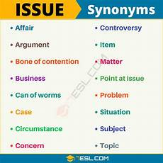 Synonym For Detail Oriented Issue Synonym List Of 105 Synonyms For Issue With Useful