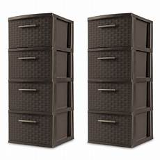 sterilite 4 drawer weave tower espresso available in