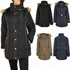womans plus coats womens plus size fur hooded winter coat quilted