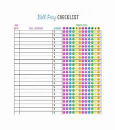Monthly Bills List 33 Free Bill Pay Checklists Amp Bill Calendars Pdf Word