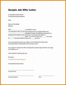 Job Offer Template Word Job Offer Letter Template With Images Job Offer Job