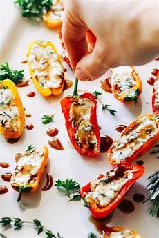 herbed cheese stuffed mini sweet peppers thyme