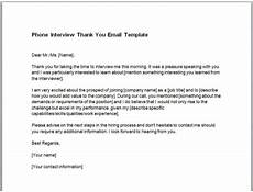 Thank You Email After Phone Call Thank You Email After Phone Interview Guide Template