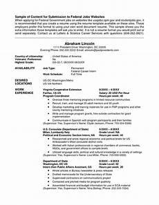 Resume Usa Template For Usa Jobs Job Resume Template Federal Resume Job