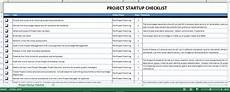 Excel Startup Template Project Startup Checklist Excel Templates At