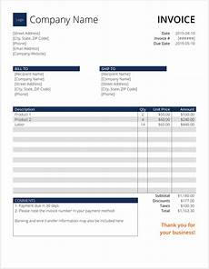 Computer Invoice Format In Word Invoice Template Word Download Free Word Template