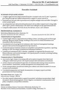Keywords For Executive Assistant Resume Sample Resume For Someone Seeking A Job As An Executive