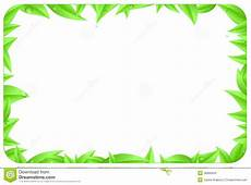 Green Border Design Green Border Made Of Leaves With Space Text Stock