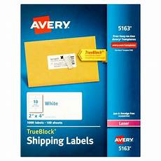 Avery Shipping Labels 5163 Avery 5163 White Shipping Labels For Laser Printers 2 Quot X