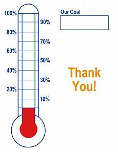 Fundraising Charts Thermometer Template Fundraising Goal Blank Amp Printable