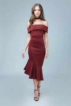 zoo fashion shoulder midi dress with