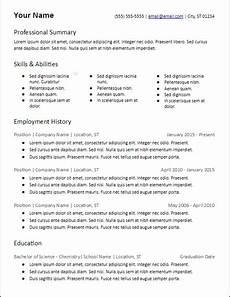 Skill Based Resume Example 3 Columns Skills Based Resume Template Hirepowers Net