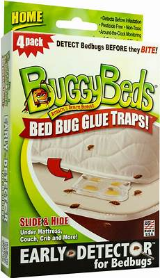 buggybeds bed bug glue traps home 4 count walmart