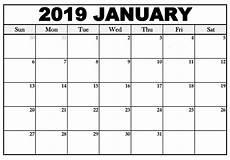 Editable Calander January 2019 Calendar Word Template Editable Printable