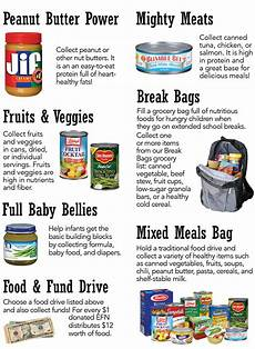 Can Food Drive Flyer Food And Fund Drives Emergency Food Network