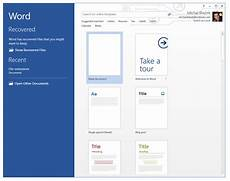 Extension Of Ms Word Recover Unsaved Or Corrupted Documents