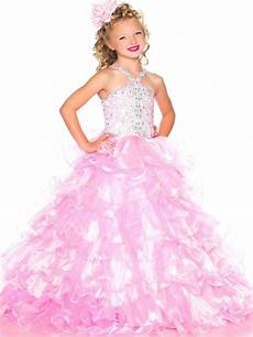 pretty pink tulle straps flower dresses