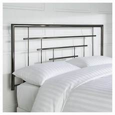 buy madrid king size metal headboard smoked chrome from