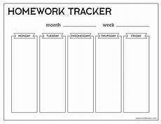 Homework Assignments Template Free Printable Student Homework Planner Template Paper