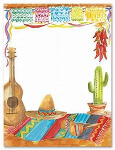 Fiesta Border Template Fiesta Theme Party Invitations Invitaciones Mexicanas