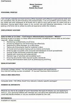 Civil Supervisor Cv Sample Civil Service Cv Example Lettercv Com
