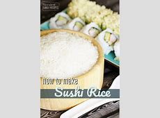 Sushi Rice is super easy to make at home! With just FOUR