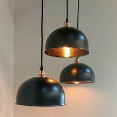 White And Copper Light Shade Copper And Black Pendant Light By Mr J Designs
