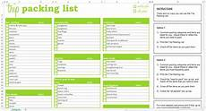 Excel Packing List Template Trip Packing List Excel Template Savvy Spreadsheets