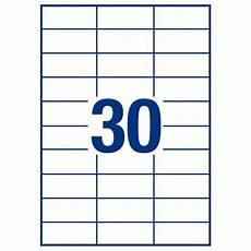 Avery 30 Per Page Labels Avery White Copier Labels 30 Per Sheet 70x30mm White 3489