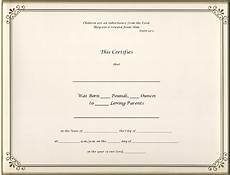 Official Blank Birth Certificate Template Best Photos Of Old Blank Birth Certificates Old Blank