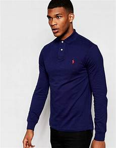 ralph sleeve polo shirts for polo ralph sleeve polo shirt in slim fit asos