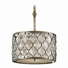 Beige Light Shade Pendant Light With Beige Cream Shade In Burnished Silver