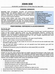 Auto Dealership Sales Manager Resume Luxury Automotive Resumes General Manager Resume Sample In