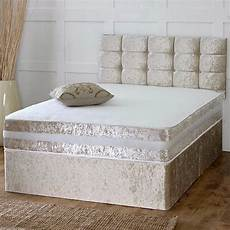 new complete crushed velvet divan bed mattress