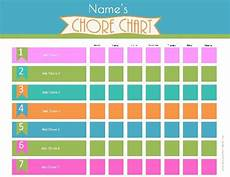 Make Your Own Chart Online For Free Free Printable Chore Charts That Can Be Customized Online