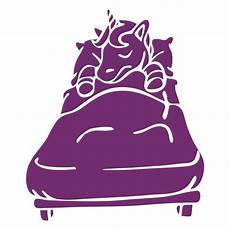 unicorn sleeping bed detailed silhouette transparent png