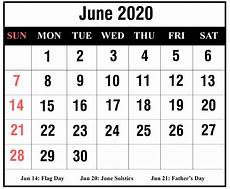 June 2020 Calendar With Holidays Download June 2020 Calendar Printable Templates Pdf