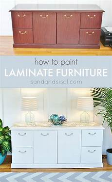 How To White Paint How To Paint Laminate Furniture Sand And Sisal