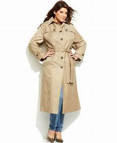 plus trench coats for racing fog plus size hooded belted maxi trench coat in