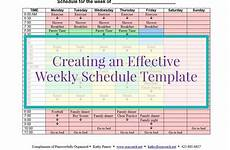Create A Schedule Creating An Effective Weekly Schedule Template