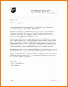 Letter Of Recommendation Administrative Assistant 9 Recommendation Letter For Administrative Assistant