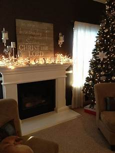 Decorate Fireplace Lighting 50 Christmas Decoration Ideas With Lights