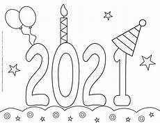 new year coloring pages 2021 celebration planerium