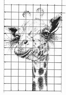 Drawing Grid Template Pointillism Drawing Grid Method Art Lesson