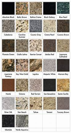 Granite Color Chart Granite Colors Redding Countertops