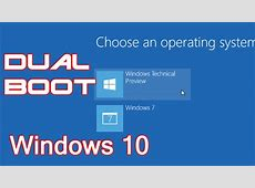 How to dual boot windows 10 with windows 8 or windows 7