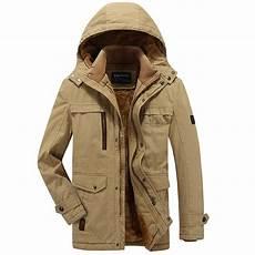 mens outdoor jackets coats mens cotton thick fleece warm hooded outdoor jacket solid
