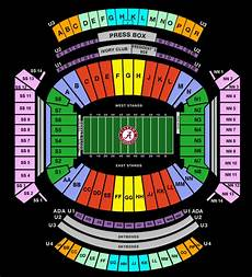 Bryant Denny Stadium Seating Chart With Seat Numbers Bryant Denny Stadium Obligation